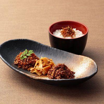 佃煮3種とご飯イメージ